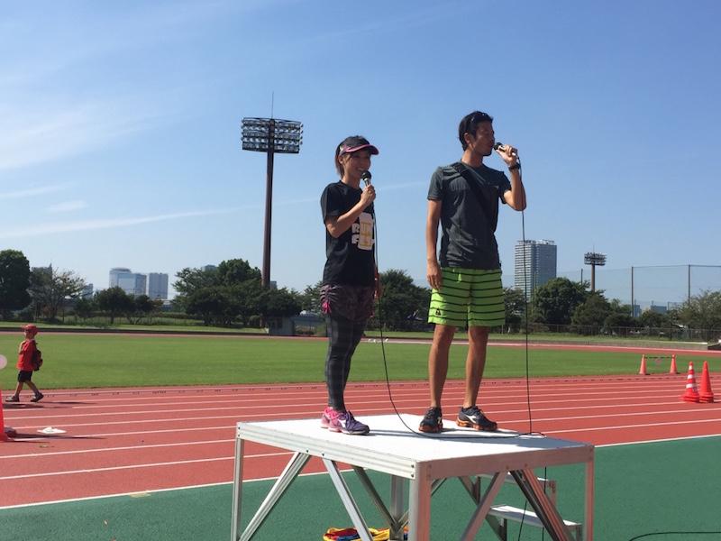 (右)Runフェス主催の西田隆雄さん