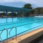 """ボホール島の中心地""""タグビララン""""で50Mプールを発見。オリンピックサイズのプールは格安で貸切状態でした!"""